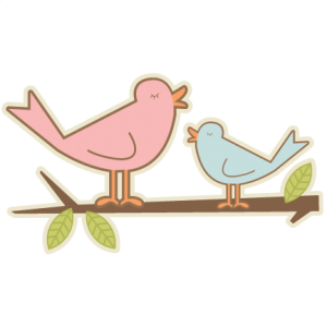 Mom and Baby Bird SVG cutting file free svg cuts free svg files bird svg cut files for scrapbooking