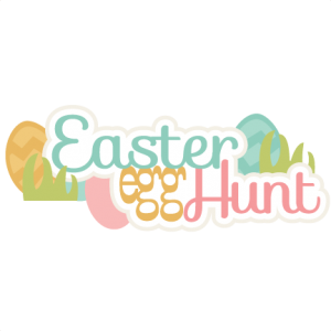 Easter Egg Hunt Title SVG cutting files easter egg svg cut file easter eggs cut files for scrapbooks