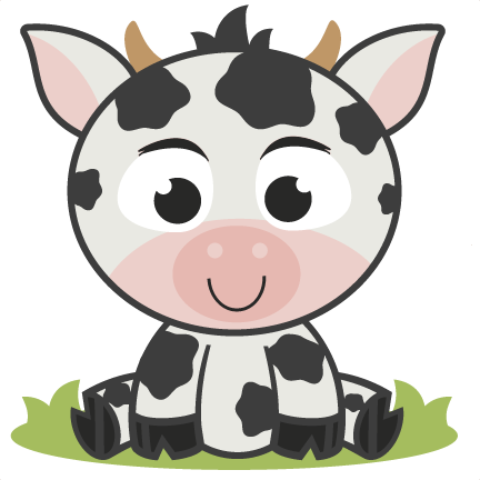 Baby Cow SVG cutting file for scrapbooking free svg cuts ...