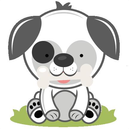 puppy with bone svg cutting file puppy svg cut file dog svg cut