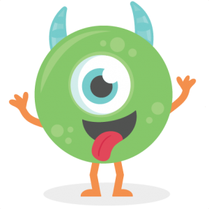 Green Monster SVG cutting file silly monster svg cut files for scrapbooking scal files scut files mtc files