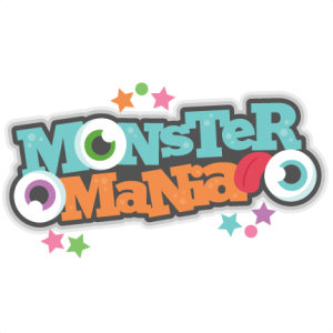 Monster Mania Scrapbook title SVG cutting file monster svg cut files for scrapbooking scal files scut files mtc files