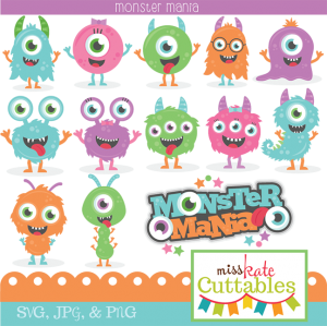 Monster Mania Scrapbook SVG Bundle cutting file monster svg cut files for scrapbooking scal files scut files mtc files