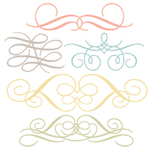Flourish Set Of 5 SVG cut files flower scal files free scut files free svgs for scrapbooking