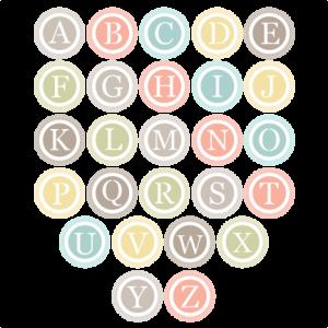 Circle Monogram Alphabet  SVG cut files for scrapbooking free svg files free svg cuts free svg cut files