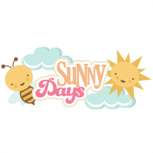 Sunny Days Title SVG cut file sunny days svg files summer svg cut files free svgs