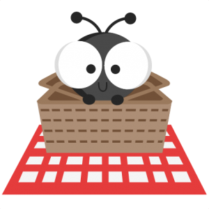 Ant In Picnic Basket SVG cutting files ant svg cuts ant scal files cutting files for cricut free svgs