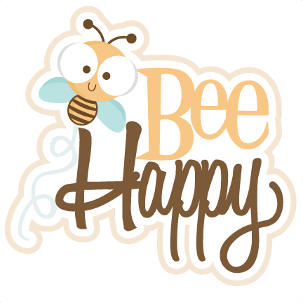 Bee Happy SVG scrapbook title SVG cutting files bee svg cuts