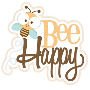 Bee Happy SVG scrapbook title SVG cutting files bee svg cuts bee svg cut files for scrapbooking