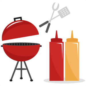 BBQ Set SVG cutting files summer svg cut files grill svg files ketchup mustard cut files free cuts for cricut