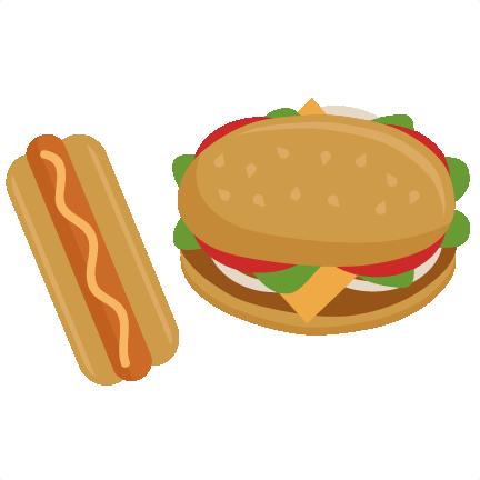 Hamburgers And Hotdogs Clipart Hamburger and Hot Dog ...