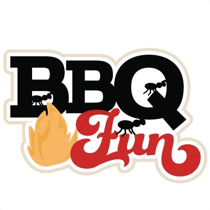 BBQ Fun scrapbook title SVG cutting files summer svg cut