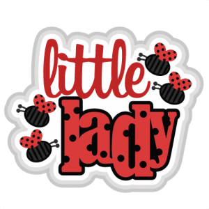 Little Lady SVG scrapbook title ladybug svg cut file cute cut files for cricut svg cuts