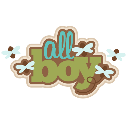 all boy svg scrapbook title svg cutting file for
