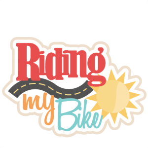 Riding My Bike SVG scrapbook title bike svg cut file for cricut cute svg cuts cute cut files for cricut