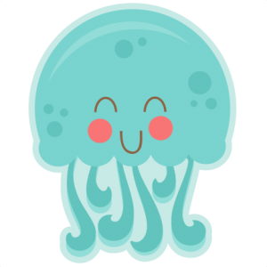 Happy Jellyfish SVG cutting files for scrapbooking fish svg cut file for cricut cute svg cuts cute cut files cricut