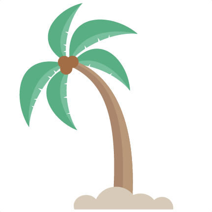 leaning palm tree svg cut files for scrapbooking beach svg cut file