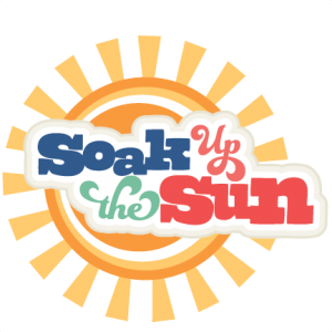 Soak Up the Sun SVG scrapbook title beach svg scrapbook title beach svg cut files for cricut cute svg cuts