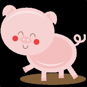 Farm Pig SVG cut files farm animals svg cutting files for scrapbooking farm cut files for cricut cute svg cuts