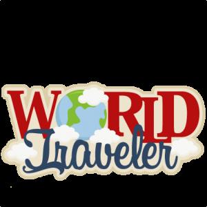 World Traveler SVG scrapbook title SVG cutting file earth svg cut file for cricut vacation svg cut file cute cut files