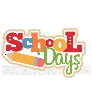 School Days Title SVG cutting file for scrapbooking free svg cuts free svg cut files cute cut files for cricut