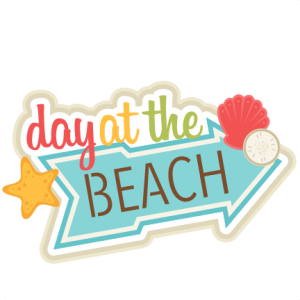Day at the Beach SVG scrapbook title SVG cut file free svg cuts summer svgs beach svg file free svg cuts
