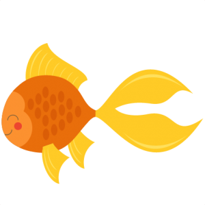 Cute Goldfish svg cut file for cricuts  SVG scrapbook title beach svg cut file ocean svg cut file cute svg cuts