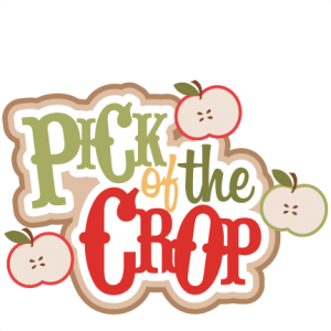 Pick of the Crop SVG scrapbooking title apple svg cut files fruit svg cut files fall svg cuts cute cut files