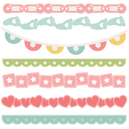Baby Borders Svg Scrapbook Cuts Baby Svg Cut Files For Cricut Cute