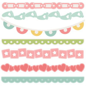 Baby Borders SVG scrapbook cuts baby svg cut files for cricut cute svg cuts cute cut files for scrapbooking