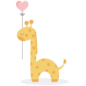 Giraffe With Heart Balloon SVG cutting file baby svg cut files for cricut cute cut files cute svgs free svg cuts
