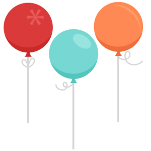 Birthday Balloons SVG scrapbook birthday svg cut files birthday svg files free svgs free svg cuts