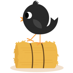 Crow on Hay Bale SVG cutting files for scrapbooking free svg cuts cute svg cut files fall svgs