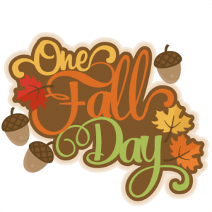 One Fall Day scrapbook title fall svg cut file cute cut files for cricut cute svg cuts free svgs