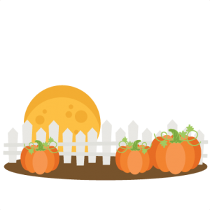 Pumpkins With Fence SVG cutting files cute cut files for cricut free svgs free svg cuts cute svg files