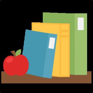 Books On Shelf SVG scrapbook school svg cut files cricut cut files for scrapbooking cute svg cuts free svgs