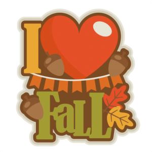 I Love Fall  SVG scrapbook title SVG cutting files for scrapbooking fall svg cut files for cricut cute cut files free svg cuts