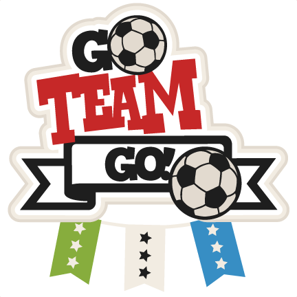 Go Team Go Soccer Title on santa claus penguin