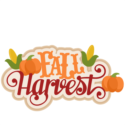 Fall Harvest Svg Scrapbook Title Svg Cutting Files For