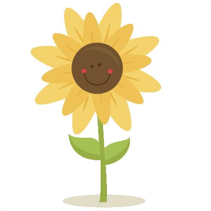 Cute Sunflower SVG scrapbook title SVG cutting files for ...