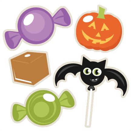 Halloween Candy Set SVG scrapbook title SVG cutting files crow svg ...