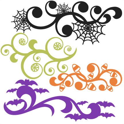 Download Halloween Flourish Set SVG scrapbook title SVG cutting ...