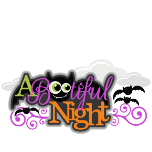 A Bootiful Night  SVG  SVG scrapbook title SVG cutting files bat svg cut file halloween cute files for cricut cute cut files free svgs
