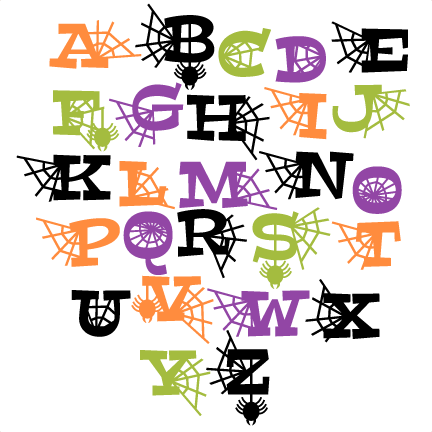 Halloween Letters Set SVG scrapbook title SVG cutting files crow ...