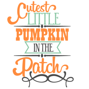 Cutest Little Pumpkin Phrase SVG scrapbook title SVG cutting files crow svg cut file halloween cute files for cricut cute cut files free svgs
