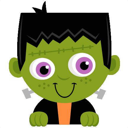 Peeking Frankenstein SVG Scrapbook Title SVG Cutting Files Crow Svg