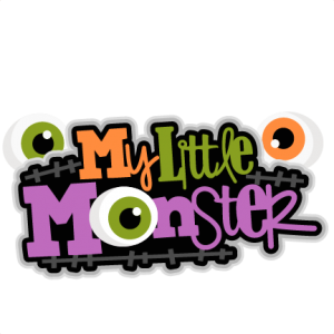 My Little Monster SVG scrapbook title Frankenstein SVG scrapbook title SVG cutting files svg cut file halloween cute files for cricut cute cut files free svgs