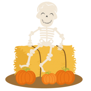 Skeleton On Hay Bale SVG cutting files halloween svg cuts halloween scal files cutting files for cricut free svgs