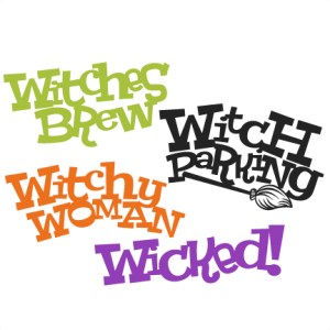 Halloween Witch Titles Set SVG scrapbook title SVG cutting files crow svg cut file halloween cute files for cricut cute cut files free svgs