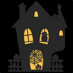 Spooky House SVG cutting files bat svg cut file halloween cute files for cricut cute cut files free svgs